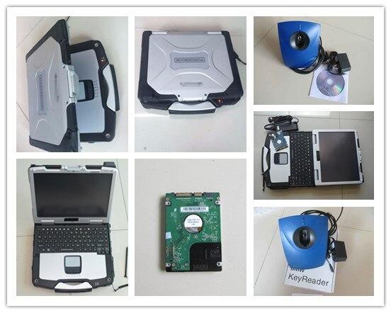 Clé de voiture programmeur pour bmw lecteur de clé logiciel installé bien toughbook cf-30 ordinateur portable tactile 4g prêt à travailler