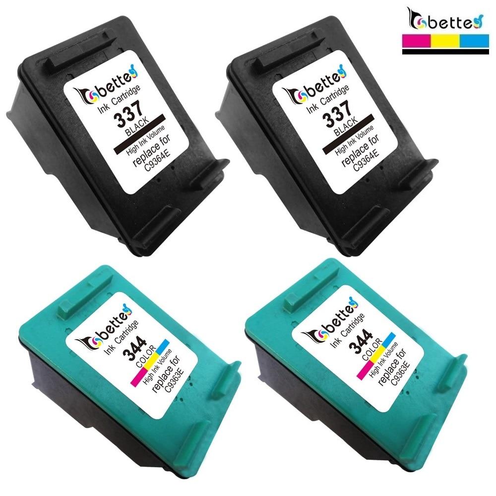 4PK, Druckerpatronen für HP 337 344 C9364EE C9363EE hp337 hp344 Deskjet 6940...