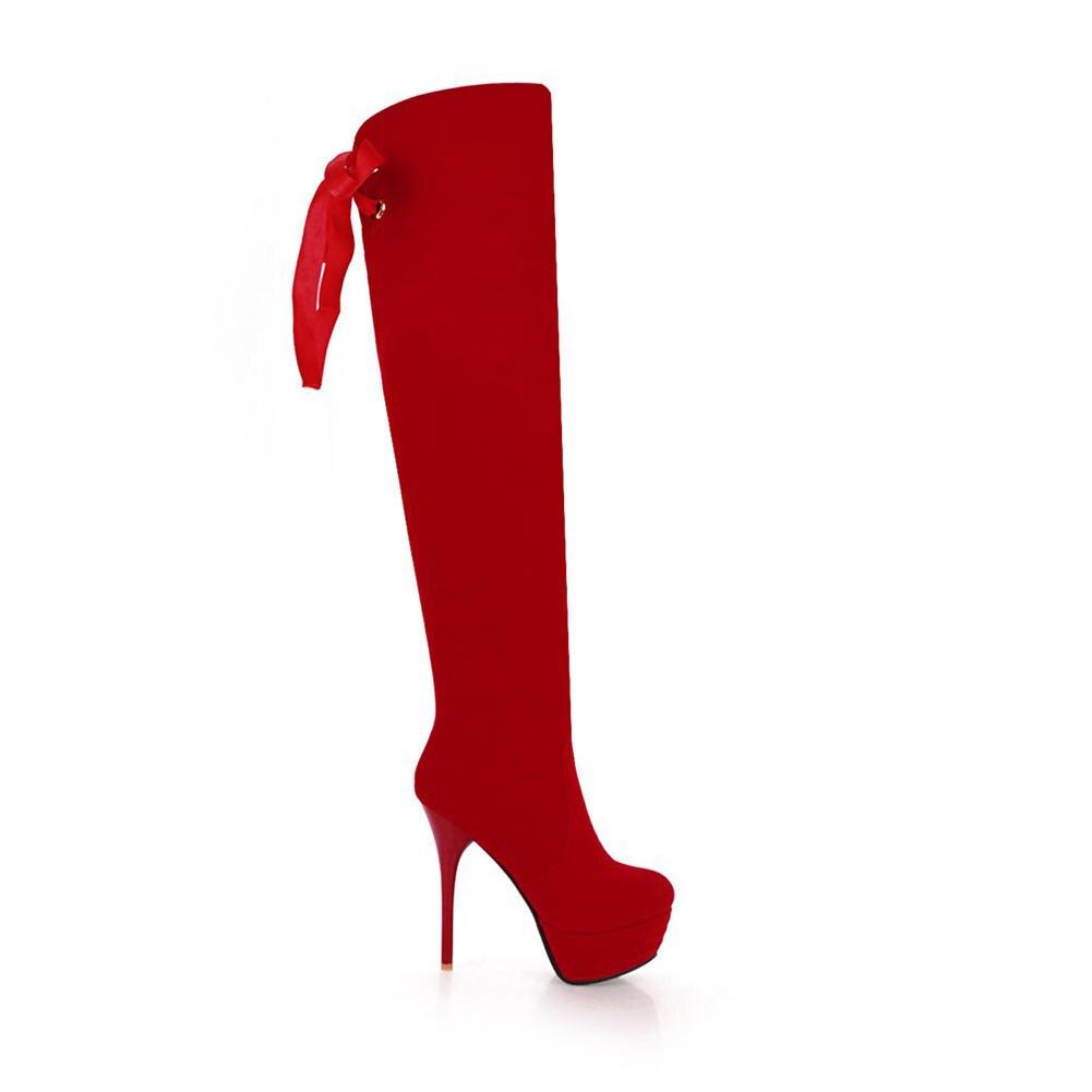 40df38f7 Negro Gran Zapatos Altos Mujer La Tacones Botas Fiesta Talla De Plataforma  Rodilla Venta 43 Sobre Delgados Grande 32 Doratasia ...