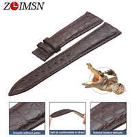 ZLIMSN Luxury Alligator Watch Band Genuine Leather For Men Or Women Watch Accessories Can Be Customized 16mm 18mm 20mm 22mm