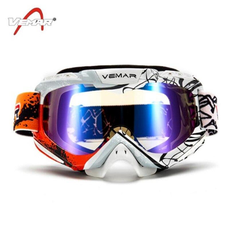 Новый мотокросс шоссейные Очки горные Байк Скейт очки зима лыжный Мотоцикл ATV MTB езда очки