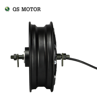 QS 12inch 260 3000w V3 80kmh fast speed electric in wheel moped hub motor for scooter
