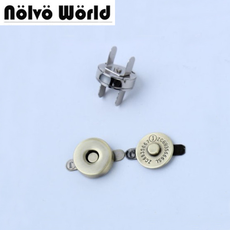 100sets 18 3 5mm hung plating dish shape magnetic snap button clasp fastener for handbag purse