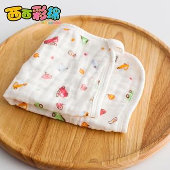 New 5PCS 33*33cm 100% Cotton Cartoon Waterproof Baby Bibs 6 Layers Soft Newborn Kid Feeding Baby Saliva Towel For 0-24 Months