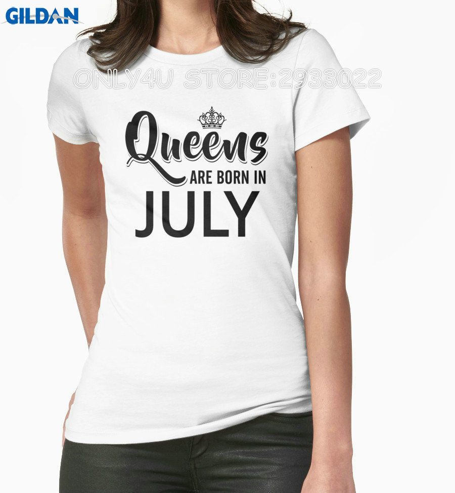 Gildan Only4U Shirt Design Short Queen Are Born In July Short Compression T Shirts