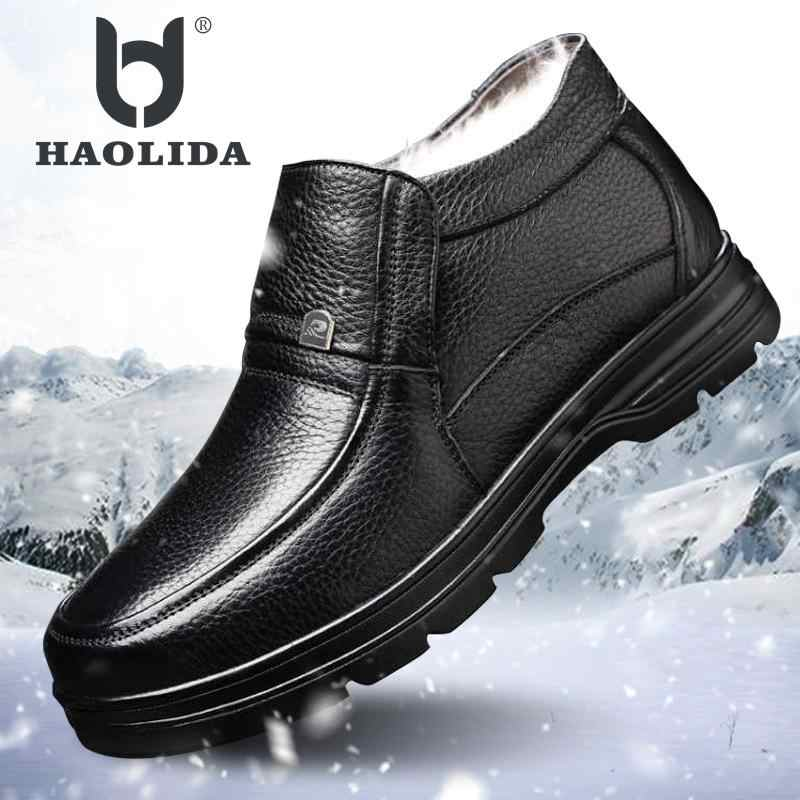 Keep Warm 2018 New Fashion Winter Casual Flat Bottom Men's Cotton Boots High Quality Soft And Comfortable Men's Cotton Boots