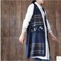 Высокое качество новые продукты, перечисленные в осенью 2016 года вязание хлопок оригинальный дизайн женщин жилет сыпучих большой ярдов