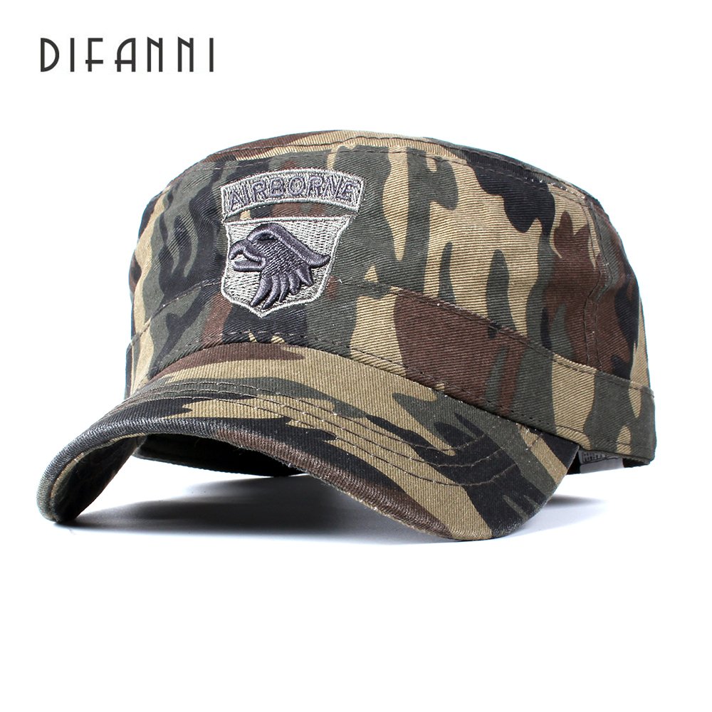 DIFANNI US Tactical Hats 101ST AIRBORNE SCREAMING EAGLE Cap Air Force Baseball caps for Men Cotton camouflage ARMY cap hats aetrue winter knitted hat beanie men scarf skullies beanies winter hats for women men caps gorras bonnet mask brand hats 2018