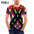 FORUDESIGNS Brand Clothing Men's T-shirt Casual Tee tops Creative 3D Printing Male Crossfit Tops Ripndip Off White Man Tees Top