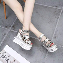 Wedges 14cm platform shoes 2016 spring and summer T-Taiwan high with sandals shoes