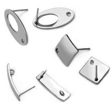 33e35e2aa2d2 30 piezas de acero inoxidable poligonal pendiente de oreja de poste de uñas  de pendiente plano