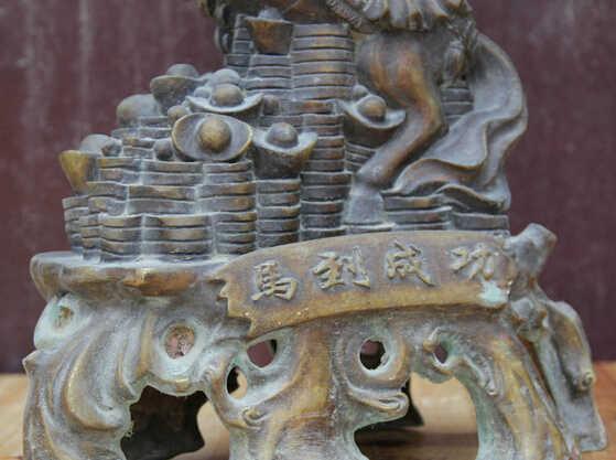 Scy S0524 16 سنة الحصان النجاح المال زودياك ثروة النحاس الشعبي الصيني تمثال النحت