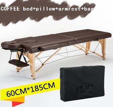 Image 3 - 185cm*60cm bed+cover+bag+U shaped pillow+armrest, spa tattoo beauty furniture portable foldable massage bed salon massage table-in Massage Tables from Furniture
