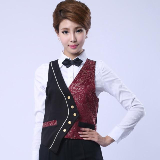 Wholesale Hotel Waiter Vest Uniforms KTV Night Club Restaurant Bar Waitress Workwear Men and Women Bar Work Clothes