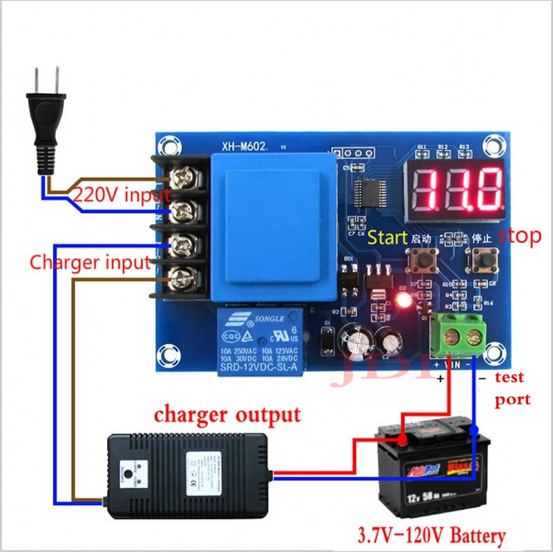 CNC Battery Charging Control Module LED Battery Switch