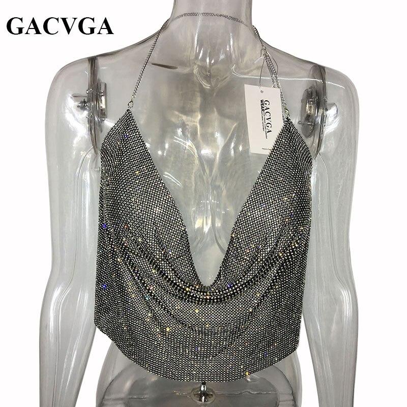 GACVGA 2019 Σέξυ κρύσταλλο Κορυφαία - Γυναικείος ρουχισμός