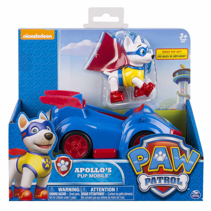 Paw Patrol Tracker สุนัข Puppy Patrol รถยนต์ Patrulla Canina ของเล่นคอสเพลย์ Action Figure ของเล่น Marshall Ryder Chase รถ