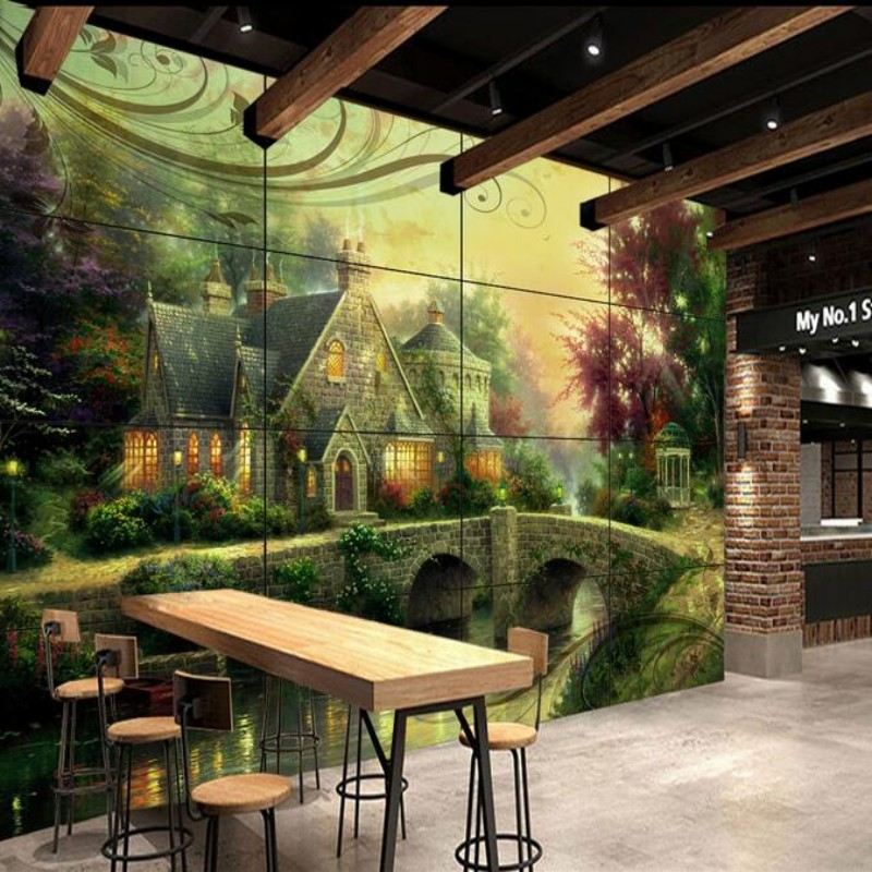 Beibehang Customize Any Size 3d Wall Murals Living Room Modern Castle Green Tree House Bridge Photo Wallpaper Papel De Parede In Wallpapers From Home