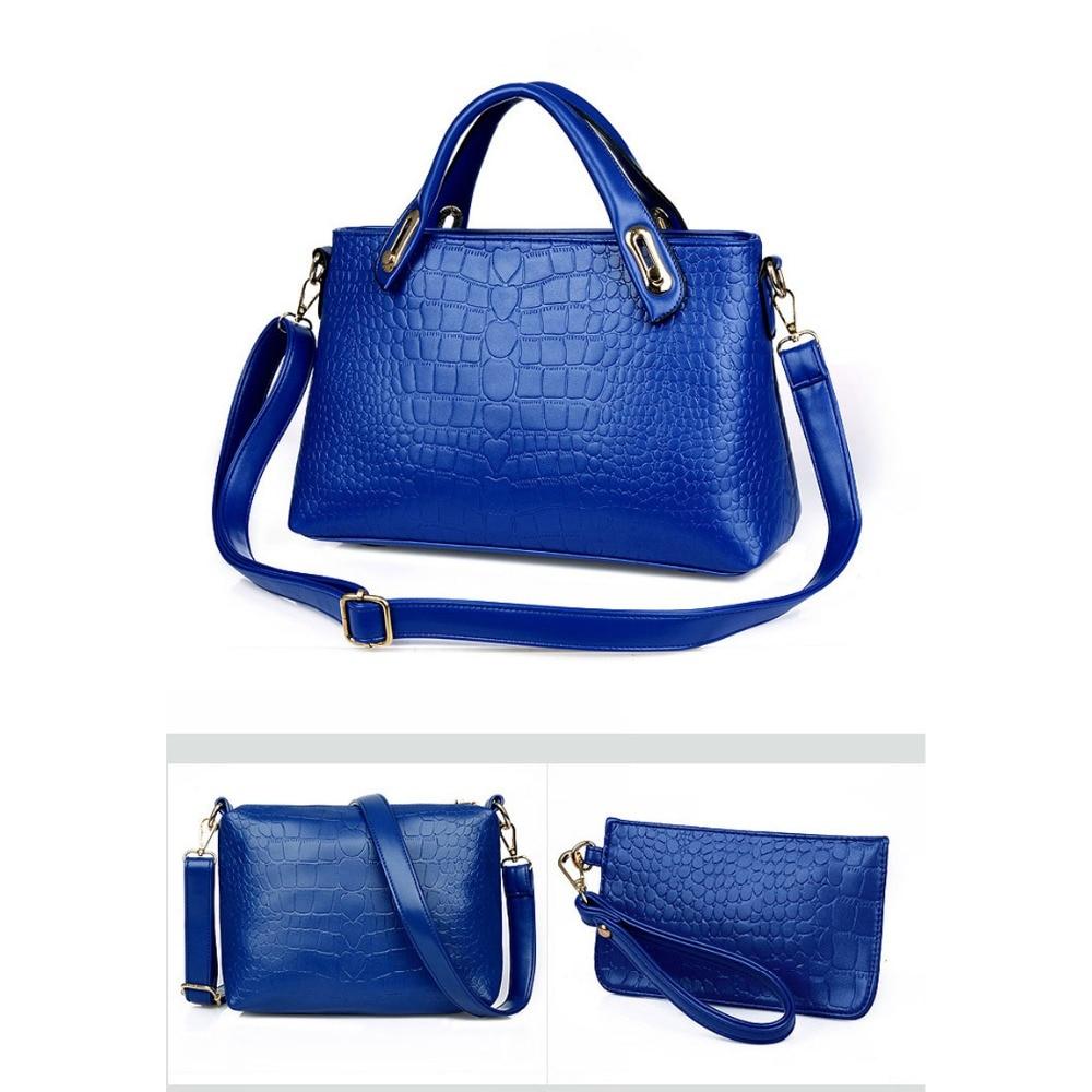 New Brand Composite Bag Women Handbags PU Leather Messenger Bags Design Hot Style Ladies Tote Bag Handbag+Shoulder Bag+Purse