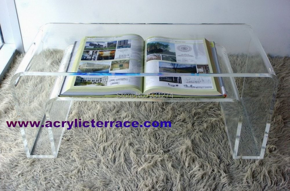 ONE LUX Crystal Acrylic coffee table/ lucite end .