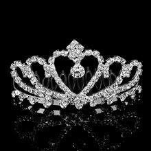Корона принцессы ободок кристалл свадебная корона для волос