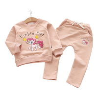 Girls Clothing Sets 2018 Fall Autumn Children Tracksuit Long Sleeve Tops Sweatshirt + Pants Kids 2 Pieces Girls Sport Suit