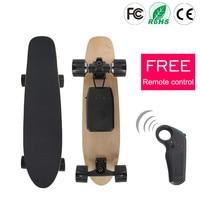 Shock Resistant Electric Skateboard Freestyle Fishboard Long Skate Board PU Wheel Skateboard 70mm Hub Motor Single Motor