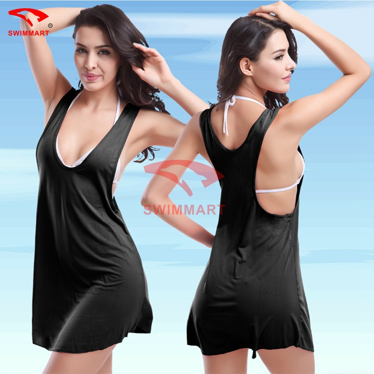 SWIMMART Beach Skirt Vest Skirt One Piece Swimsuit Sexy Swimwear Women Bathing Suit Swim Summer Dress Swimsuit Bikini