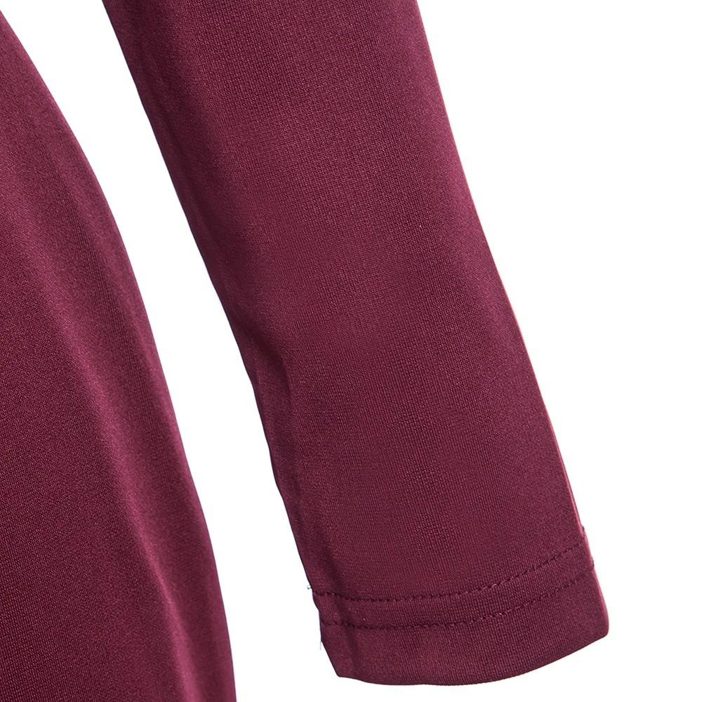 VESTLINDA Plus Size Robe Sexy Femme Midi Sheath Bodycon Dress Long Sleeve Elegant Dresses Women Back Zipper Pencil Tight Dress 25