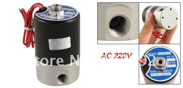 10 шт./лот Q23XD-2L AC 220 В 3 способа 2 Позиции воздушный электромагнитный клапан