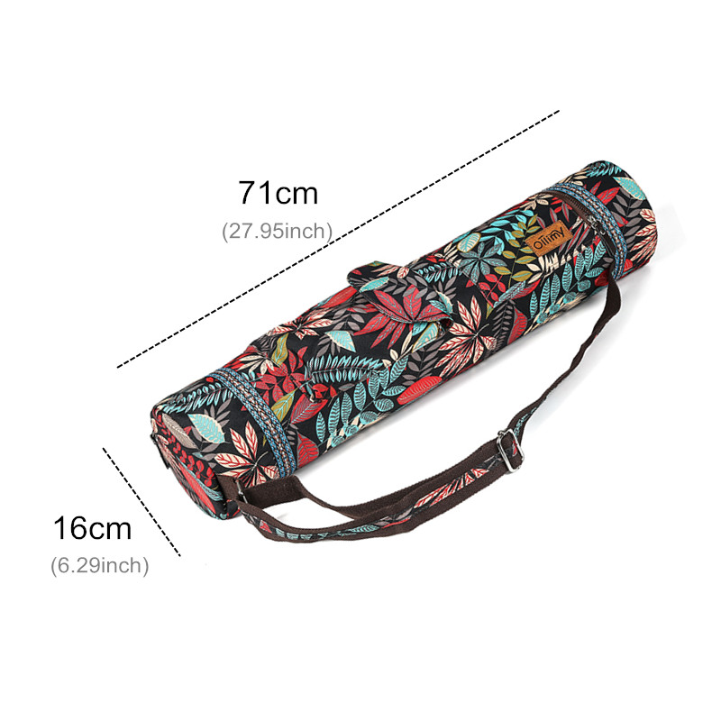 Image 4 - Printed Yoga Mat Bag Gym Mat Case For Momen Men Pilates Fintess Exercise Pad Easy Carry Yoga Backpack Dance Sports Yoga Bags-in Yoga Mats from Sports & Entertainment