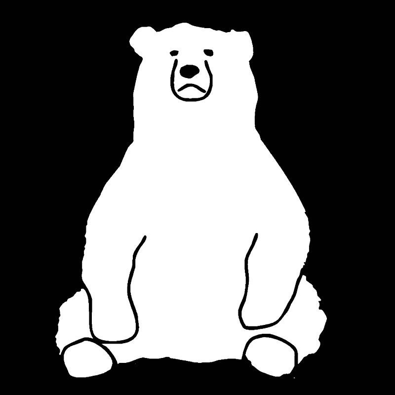 New Funny Bear Car Sticker Cute Laptop Door decal for cars styling Animal automotive products vinyl Motorcycle Window decoration