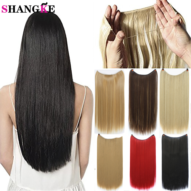 Low Cost Shangke 22 Invisible Wire No Clips In Hair Extensions