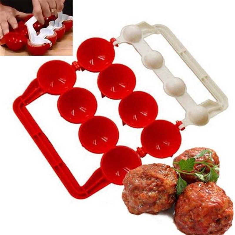 1 PC nouveau moule à boulettes de viande faisant boule de poisson cuisine de noël auto farce nourriture cuisson boule machine outils de cuisine accessoires