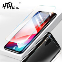 цена на Front and Back Tempered Glass For iphone 8 8plus 7 7plus 6 6s plus screen protector protective glass For iphone XS MAX XR X 5s