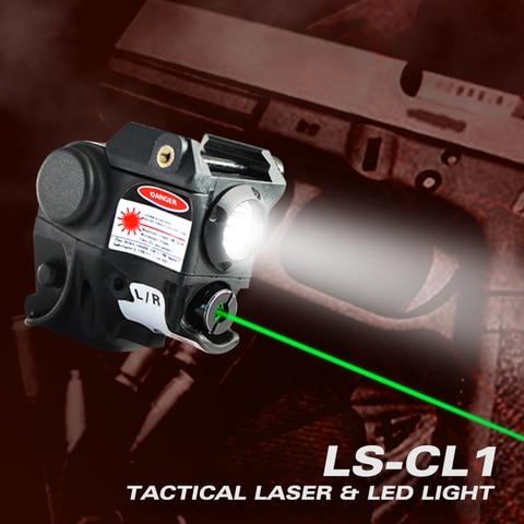 laserspeed arma de luz e ponteiro laser militar para glock 17 19 railed pistola tatico