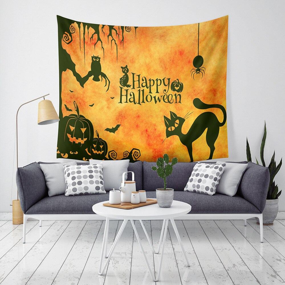 Tapisserie Halloween tenture murale tapisseries décor pépinière nappe chambre salon couvre-lit serviette de plage Yoga pique-nique tapis