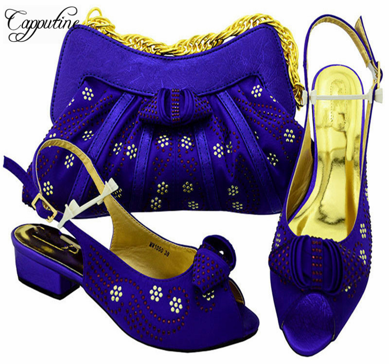 Capputine African Women Matching Shoes And Bag Set For Wedding Italian Low Heels Shoes With Bag On Sale Size 38-43 MM1050 shoes and bag set african fashion italian shoes and matching bags set size 38 43 shoes and bag set page 7 page 10 page 2 page 6 page 5