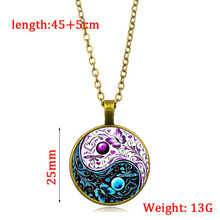 New accessories Tai Chi Yin Yang Butterfly Time Gem Necklace European and American New Pendant Necklace Sweater Chain недорого