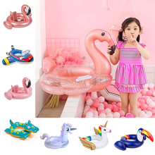 24 Style Inflatable Circle Baby Flamingo Float Swimming Ring Inflatable Unicorn Pool Float Child Seat Air Mattresse Water Toys
