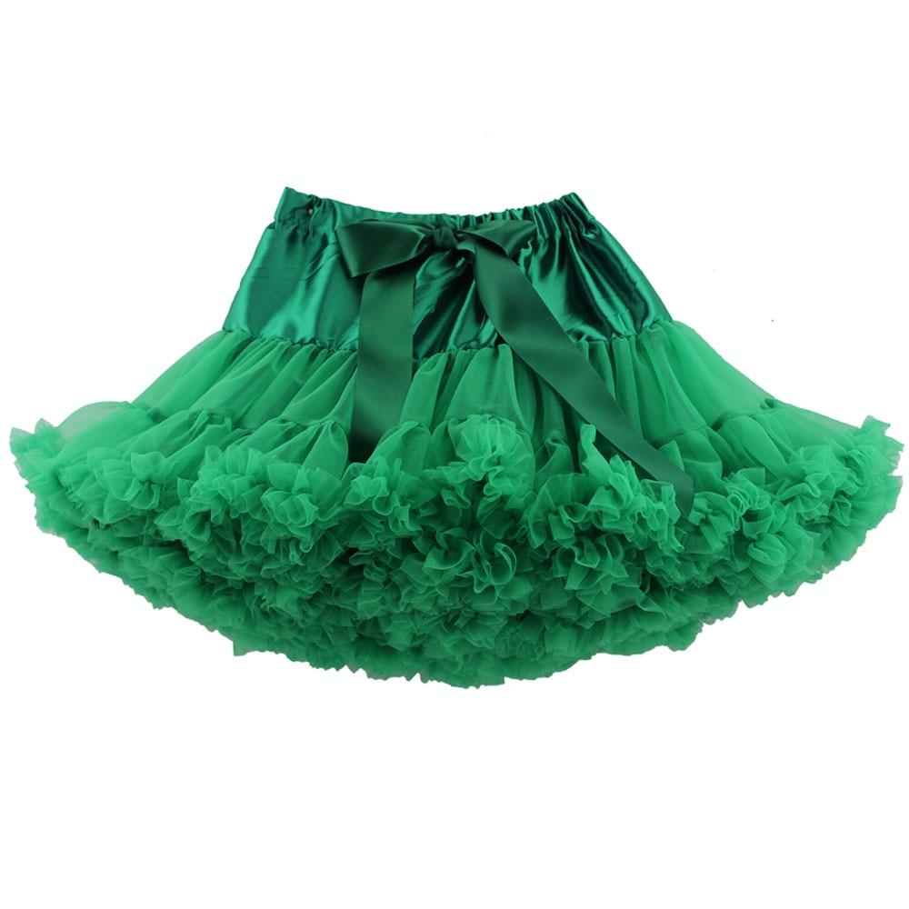Детские Нижние юбки для девочек юбка-пачка Нижняя юбка для девочек девочки пачки, миниатюрные юбки шифоновая юбка воздушная юбка подростковая одежда для девочек - Цвет: Зеленый