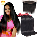 Brazilian Virgin Hair Straight Hair With Lace Frontal Closure Ear To Ear Lace Frontal Closure With Bundles Brazilian Human Hair