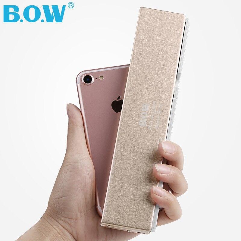 Mini clavier Bluetooth pliable Ultra mince B.O.W pour iPhone X 8 7 6 S 6plus, iPad Mini/Pro/Air, Smartphones Samsung, noir