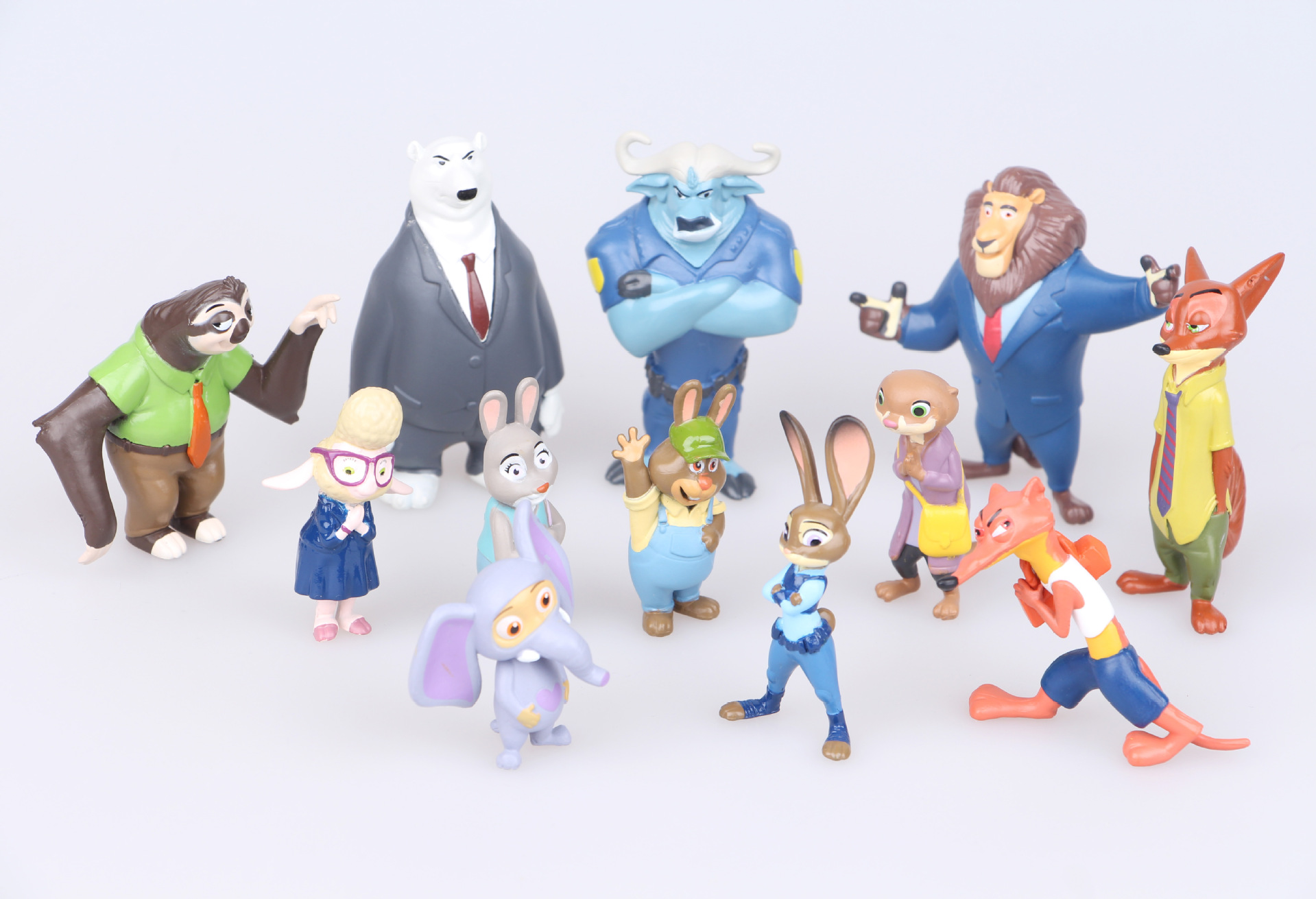 12 Pcs/set Zootopia Action Figure Toys High-quality Animal Rabbit Judy Cop Fox Nick Cartoon Brinquedos Model Children Gift image