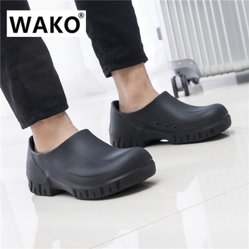 Shoes For Work In Kitchen | WAKO 2018 New Men's Chef Kitchen Working Shoes Casual Flat Work Shoe Super Anti-Slip Cook Working Shoes For Men Male 39-44