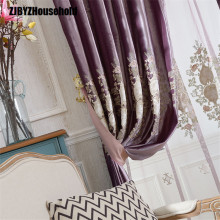 Brief Description of Purple Italy Velvet Embroidered Curtain Screen,Curtains for Living Dining Room Bedroom