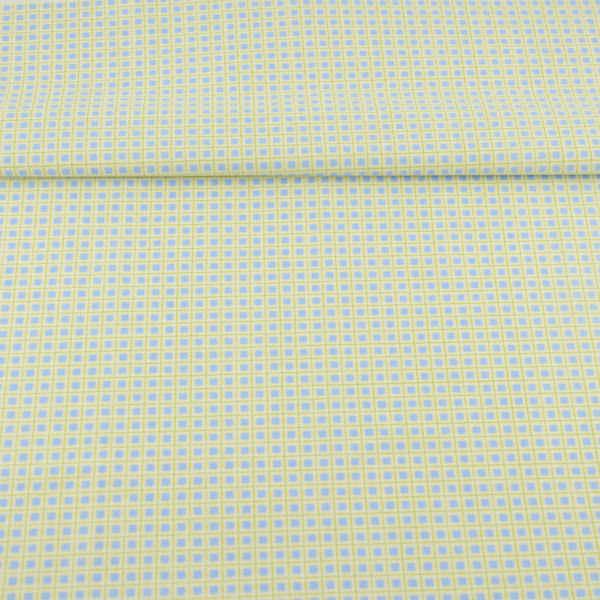 Квадратный узор синяя хлопковая ткань для вышивания кукол постельное белье для отеля постельных принадлежностей занавеска шитье Tecido художественная работа лоскутное платье