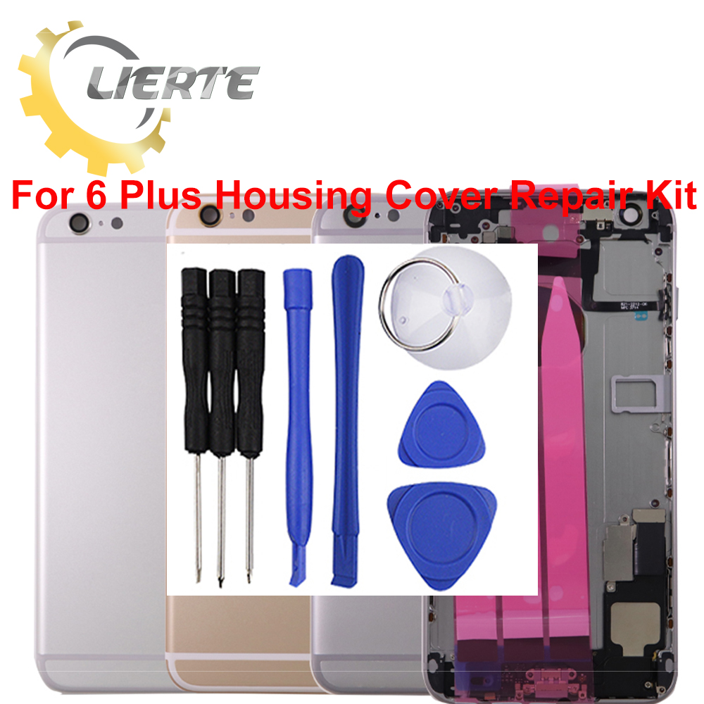 10Pcs/Lot Screwdriver Repair For IPhone 6 Plus 6G Frame Bezel Chassis Back Full Housing Battery Door Rear Cover Body Flex Cable ia73 original chassis middle housing frame for iphone 4 silver