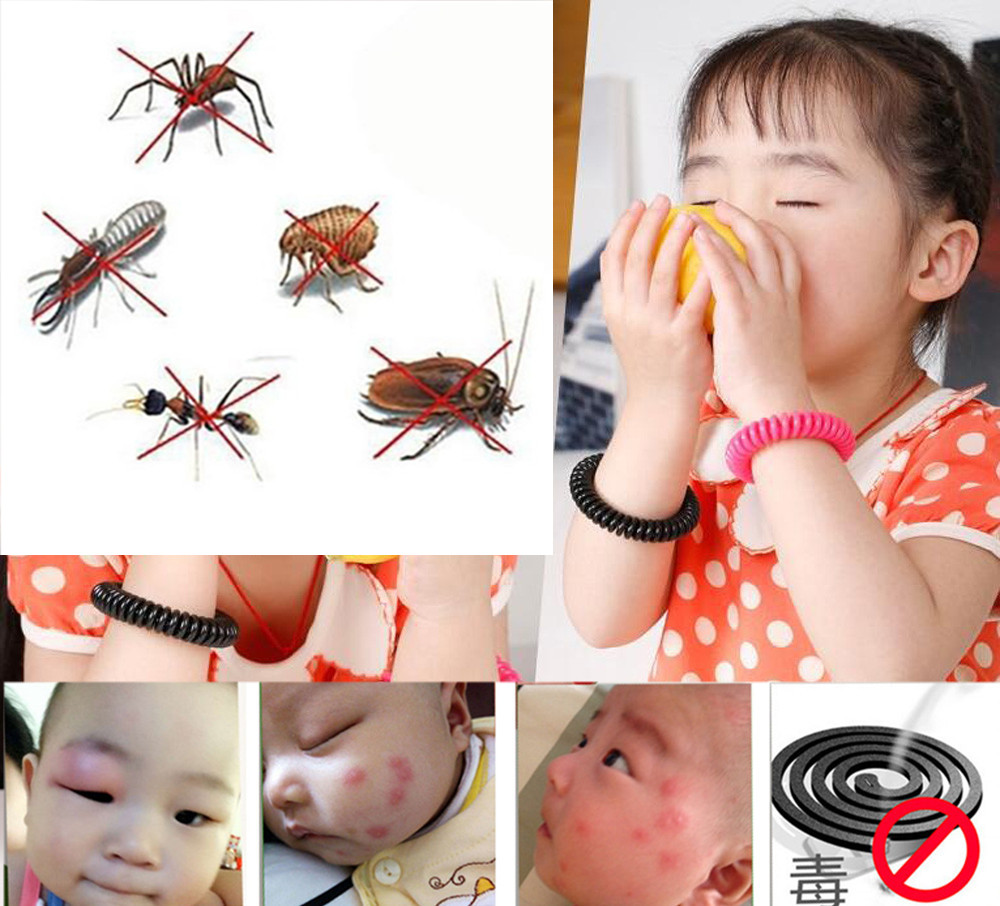10 PCS Anti Mosquito Insect Bugs Repellent killer Safe for baby Children Repeller Wrist Hair Band Bracelet Camping Outdoor New защитный детский шлем