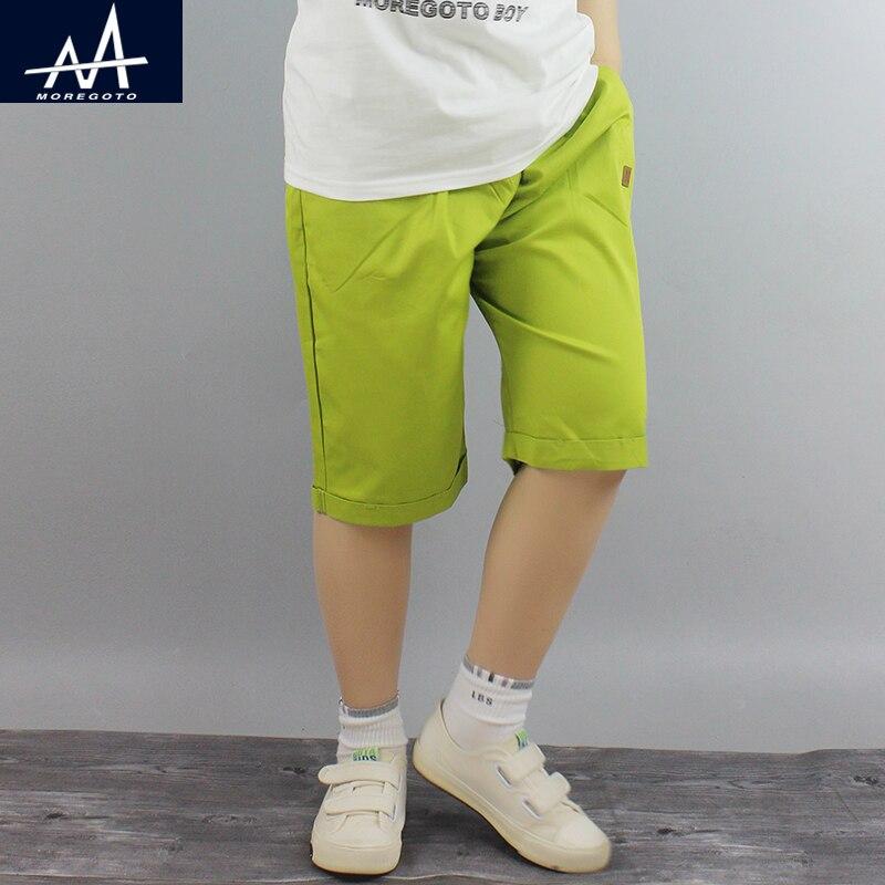 Brand Children Shorts Knee Hight Summer Shorts for Big Boys Candy Beach Child Shorts Pants School